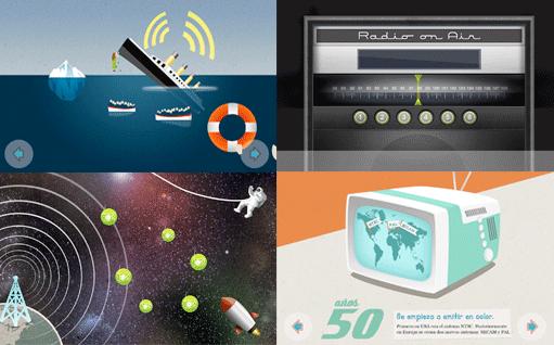 Diferentes pantallazos de software interactivo