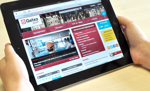 Home Web Getxo en tablet