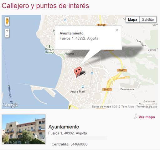 Localización Ayuntamiento