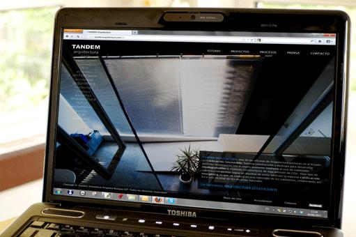 Web de Tandem Arquitectos